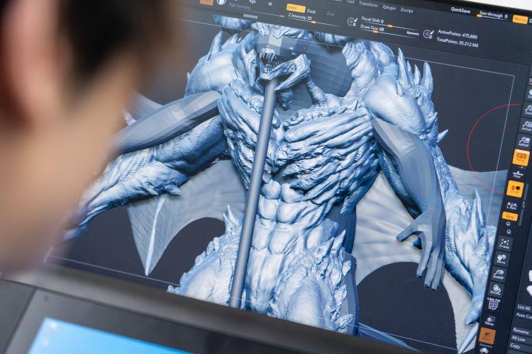 CGモデリング中の写真