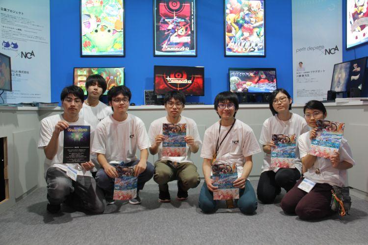 東京ゲームショウに出展時の記念撮影