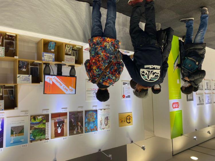 学生作品展示会の会場写真